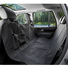 BarksBar-Original-Pet-Seat-Cover-for-Cars-Black-WaterProof-Hammock-Convertible