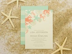Destination Wedding Invitation, Beach Wedding