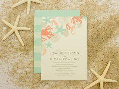Destination Wedding Invitation, Beach Wedding