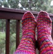 Crazy Summer Socks - via @Craftsy