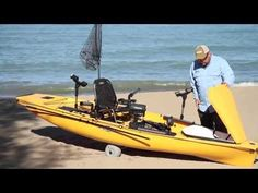 The Hobie PA 14 packs extreme kayak fishing utility, with six horizontal rod lockers, enough tackle compartments to empty a store, and an elevated Vantage ST seat. Hobie Pro Angler, Hobie Kayak, Pedal Fishing Kayak, Fishing Boats, Hobie Mirage, Lego Boat, Hunter Boats, Walleye Fishing, Boating Outfit