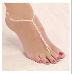 Pearl Beads Foot #Jewelry for #Beach #Weddings and parties