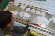 The Reflection Table by Teach Preschool with non-breakable mirror for various activities