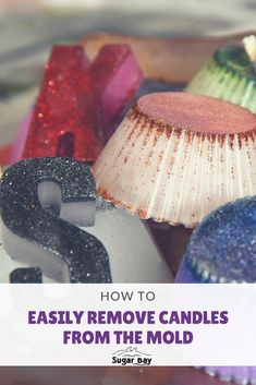 How to easily remove candles from the mold:  1. Refrigerate the mold. Placing the mold in the refrigerator will speed up the cooling process, helping the wax set and separate from the mold.  2. Put the mold in the freezer for five minutes. If the candle's especially difficult to dislodge, you can try putting the mold in the freezer.  3. Use boiling water to remove completely stuck candles. Place the mold in a metal dish filled with boiling water and wait for the candle to soften. Camping Crafts, Craft Activities, Freezer, Refrigerator, Separate, Wax, Arts And Crafts, Dish, How To Remove