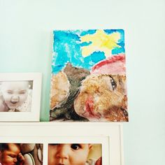 Use tissue paper to create a custom photo canvas for your little one to paint. Photo Canvas, Canvas Art, Painted Canvas, Paper Crafts, Diy Crafts, Custom Photo, Custom Paint, Tissue Paper, Children Photography