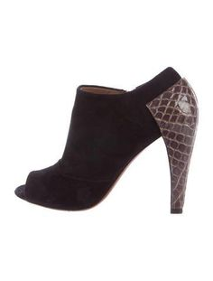 Alaïa Crocodile-Trimmed Suede Booties discount purchase jsAtC