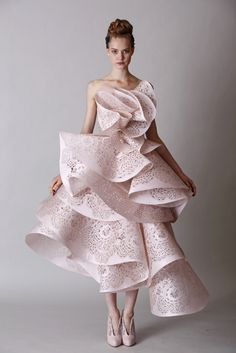 soft pink Doir couture - love the softness in the colour but the structure of the dress