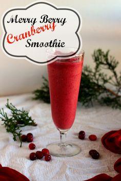Merry Berry Cranberry Smoothie | carmelmoments.com