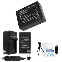 UltraPro NP-W126 High-Capacity Replacement Battery with Rapid Travel Charger for Fujifilm XE-1 HS30EXR HS33EXR. Also Includes: Camera Cleaning Kit, Camera Screen Protector, Mini Travel Tripod
