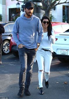 On the road to reconciling? Kourtney Kardashian and Scott Disick were spotted going to lunch together in Calabasas, California, on Wednesday