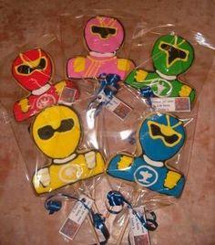 power ranger cookies - Google Search Ranger Cookies, Power Ranger Party, Pawer Rangers, Cookies For Kids, Party Ideas, Google Search, Birthday, Birthdays, Ideas Party