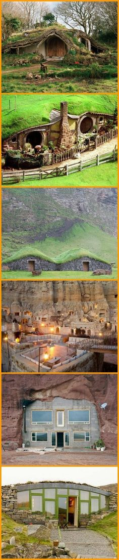 Underground Homes. From Hobbit to Tony Stark, these underground homes are all un. Underground Homes, Unusual Homes, Earth Homes, Natural Building, Earthship, The Hobbit, My Dream Home, Future House, Building A House