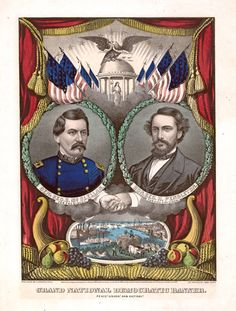 """Presidential Campaign Posters: Two Hundred Years of Election Art""  1864: Abraham Lincoln, George McClellan"