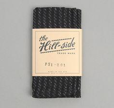 PS1-201 - BEACH CLOTH STRIPE POCKET SQUARE, BLACK / NAVY :: HICKOREE'S