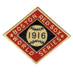 World Series Logo Patches - 1916 Red Sox