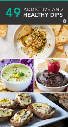 Hummus and guacamole aren't the only healthy party dips #dips #party #recipes