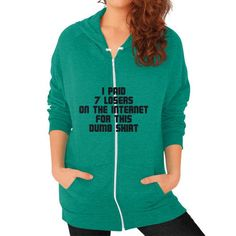 Wise Purchase Decision Zip Hoodie (on woman) Shirt