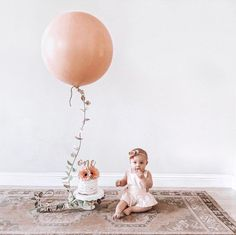 36 Inch Round Peachy Blush Giant Balloon – 36 Inch Giant Balloon, Blush Balloons, Peach Balloon, Giant Blush Balloon, Peach Balloon Garland - New Sites First Birthday Balloons, 1st Birthday Photoshoot, 1st Birthday Party For Girls, 1st Birthday Pictures, Baby Birthday, First Birthday Photos Girl, Simple First Birthday, Birthday Ideas, First Birthday Outfit Girl