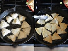 Homemade Tortilla Chips from Corn Tortillas in 5 minutes, easy homemade Mexican in minutes! Homemade Tortilla Chips, Homemade Chips, Homemade Tortillas, Corn Tortillas, Chip Alternative, How To Make Tortillas, Mexican Food Recipes, Ethnic Recipes, Side Dishes