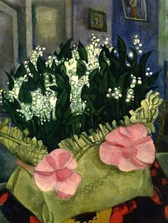 Marc Chagall - Lilies of the Valley Follow the biggest painting board on Pinterest: www.pinterest.com/atelierbeauvoir