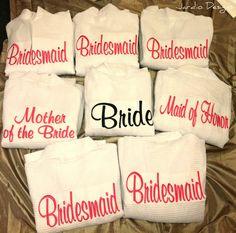 Bridesmaid robes.