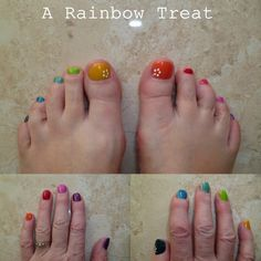 rainbow mani/pedi