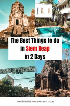 Only have 2 days in Siem Reap? This guide has everything you need to know to make the most of your Siem Reap and Angkor Wat itinerary in 2 days! Cambodia Travel, Vietnam Travel, Thailand Travel, France Travel, Asia Travel, Travel Tips, Travel Abroad, Travel Ideas, Siem Reap
