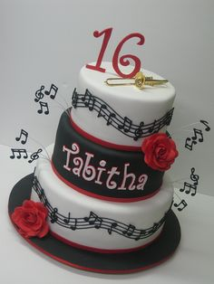 Musical Cake - It would be so awesome to have this  for my birthday, except a Violin on top and it'd be beyond perfect! Hint Hint Adam..... ;)