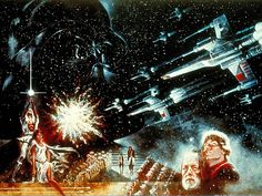 "BEAUTIFUL original STAR WARS art! I recognize this from the ""Star Wars Trilogy Anthology"" 4-disc set! Amazing! I love Ralph McQuarrie!"