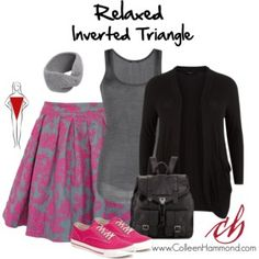 Relaxed Inverted Triangle 2
