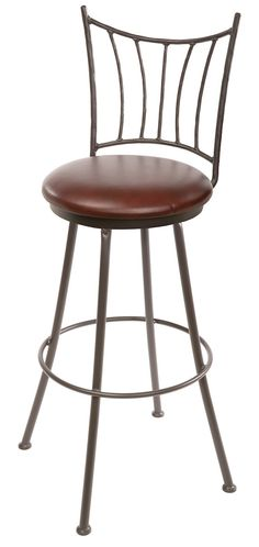"""Stone County Ironworks 902-766-LPC Ranch Barstool 30"""" (with swivel)"""
