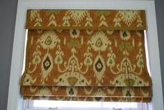 No Sew Roman Shade (Using Bamboo Shade, Spray Glue, Glue Gun, Fabric of your choosing and Binding)  Awesome!