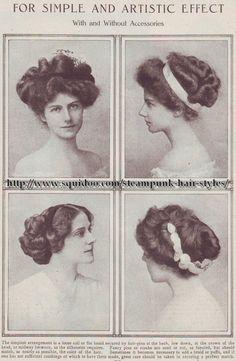 Peinados  a partir de 1908 la revista