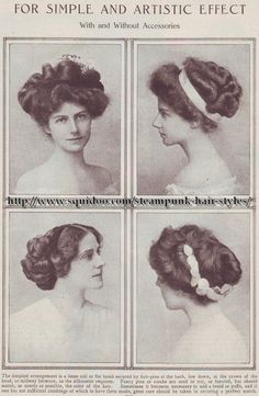 Steampunk Hairstyles from 1908 Magazine