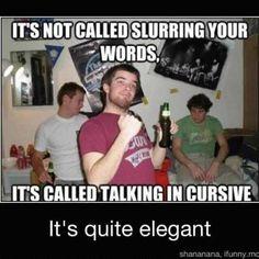 Speaking in Cursive