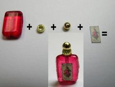 how to: Cynthia Howe perfume bottles. Make from different sized beads and misc jewelry findings.