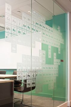 Glass graphics at Land Securities Offices, UK by Hat-TrickDesign Office Graphics, Window Graphics, Signage Display, Signage Design, Environmental Graphic Design, Environmental Graphics, Bureau Open Space, Glass Partition Designs, Vinyl On Glass