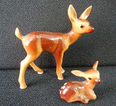 Vintage Hagen Renaker Doe Fawn Deer Set | eBay