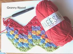 Hekel Idees: Hekel Tutoriaal: Granny Ripple Patroon Afrikaans, Fingerless Gloves, Arm Warmers, Free Crochet, Knitted Hats, Free Pattern, Crochet Patterns, Knitting, Cotton