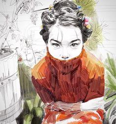 No eres tú. Sketchbook Inspiration, Art Sketchbook, Figure Painting, Painting & Drawing, Character Illustration, Illustration Art, Illustration Pictures, Art Sketches, Art Drawings