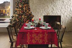 Ideias de decoração da mesa de natal.