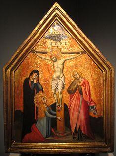 Simone dei crocifissi, crocifissione, tavola, 33x43 cm, coll. privata.