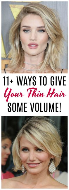 of the Best Tips for Giving Your Thin Hair Volume ways to give your thin hair volume: Are you tired of flat, lifeless hair? Gals with thin hair are always on the hunt for some easy ways to add some life to their locks. From haircut ideas to product Thin Hair Cuts, Long Thin Hair, Bobs For Thin Hair, Style Thin Hair, Haircuts For Long Hair, Cool Haircuts, Cool Hairstyles, Layered Haircuts, Medium Hairstyles
