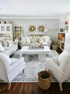 50 Best Living Room Design Ideas for 2019 - The Trending House Home Living Room, Living Room Furniture, Living Room Designs, Home Furniture, Living Room Decor, Antique Furniture, Rustic Furniture, Modern Furniture, Country Style Living Room