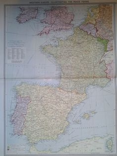 Exeter to truro replica john ogilby 17c road map limited edition 55 1920 antique lithograph map western europe peace process after ww1 philips publicscrutiny Image collections