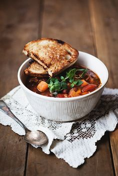 mixed bean soup by the little red house, via Flickr