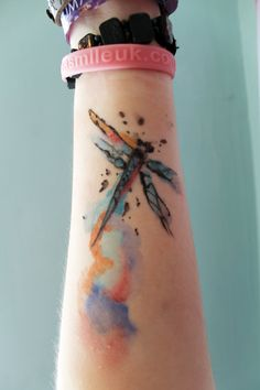 9 Awesome watercolour tattoo dragonfly