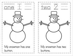 Free snowman counting numbers printables!