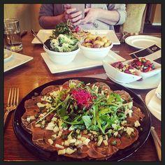 Napraten afsluiten en eten... met @elmaharmans! :-)