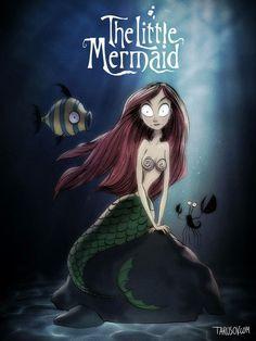 Tim Burton Little Mermaid